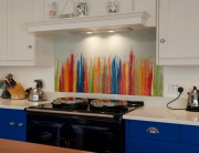 Fused Glass Art Hightown Multicolor Splashback