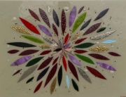 fused glass art | house of ugly fish | flower burst
