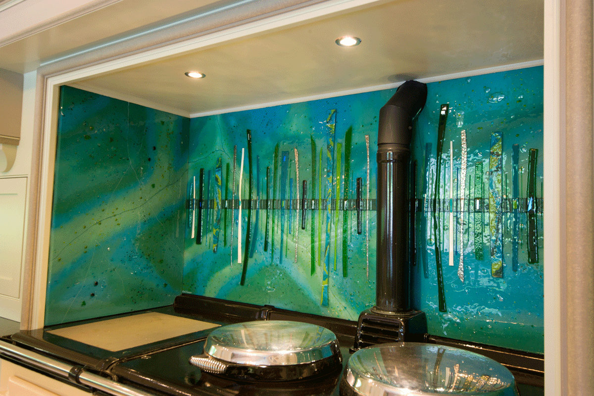 Bespoke Fused Glass Art Kitchen Splashbacks Dalaman Designs House Of Ugly Fish
