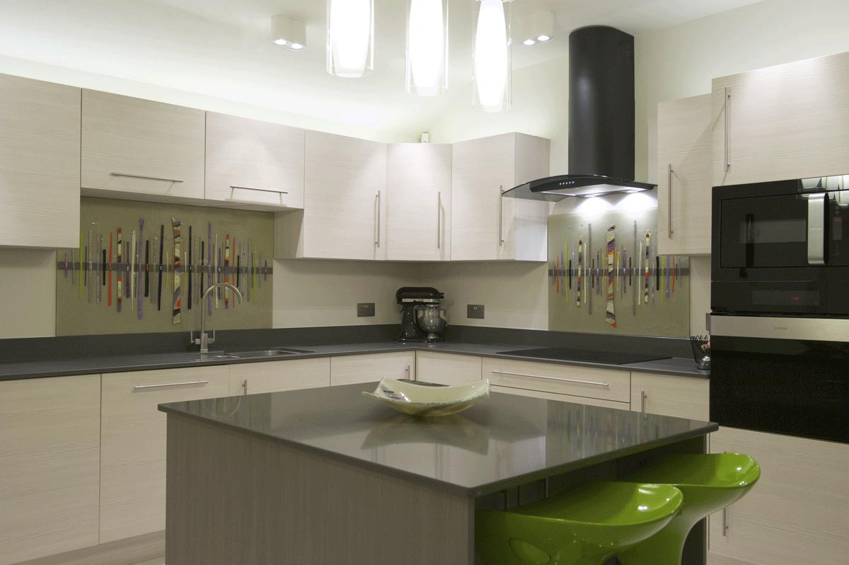 Bespoke Fused Glass Art Kitchen Splashbacks Dalaman Designs House Of Ugly Fish