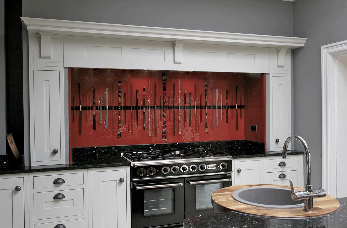 Bespoke fused glass art kitchen splashbacks dalaman for Kitchen design upminster
