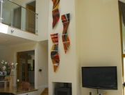 Bespoke Fused Glass Art Aberfeldy Installation 1