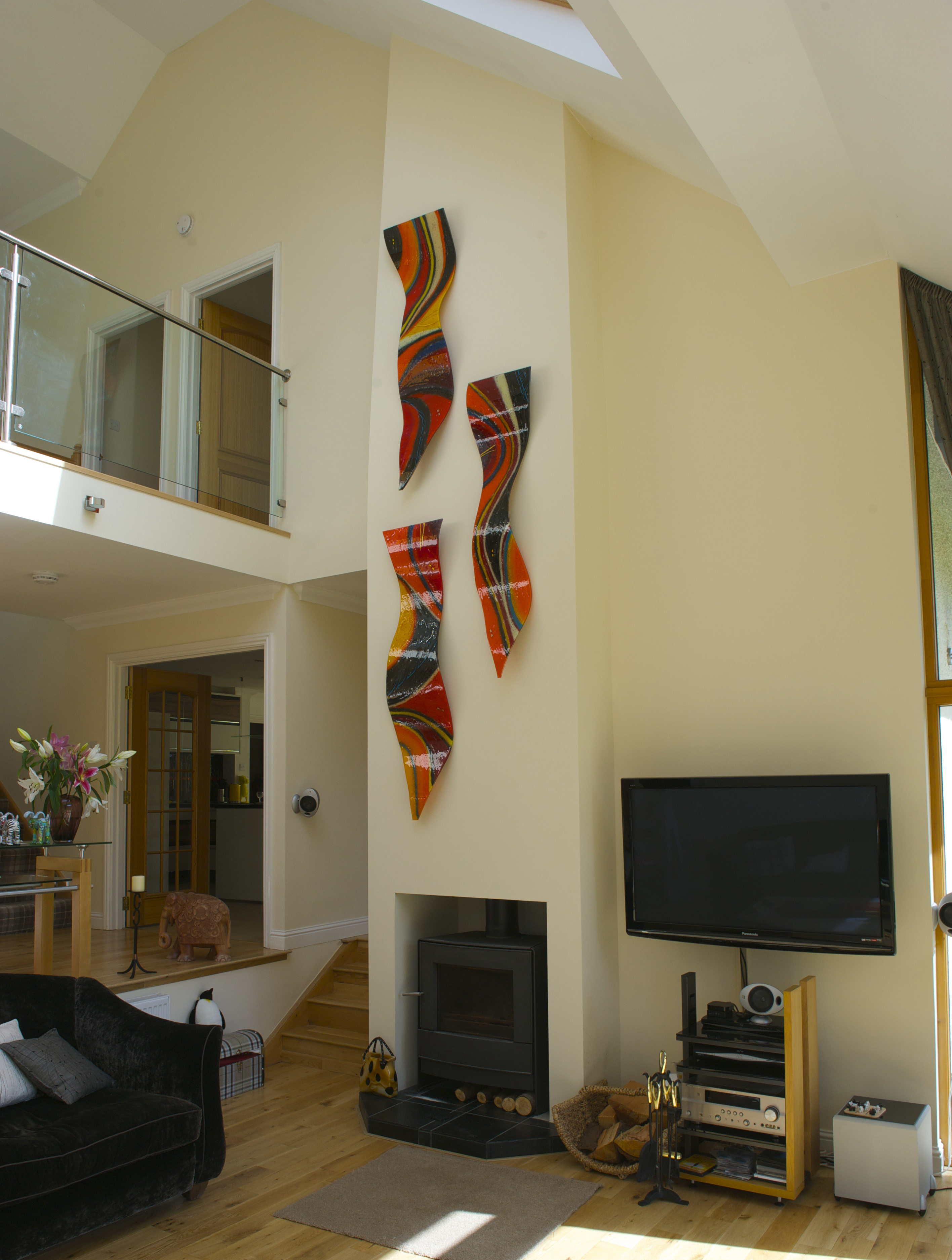 This gorgeous bespoke fused glass art found a home in Aberfeldy!
