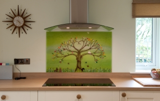 Fused Glass Art Green Tree of Life Norwich