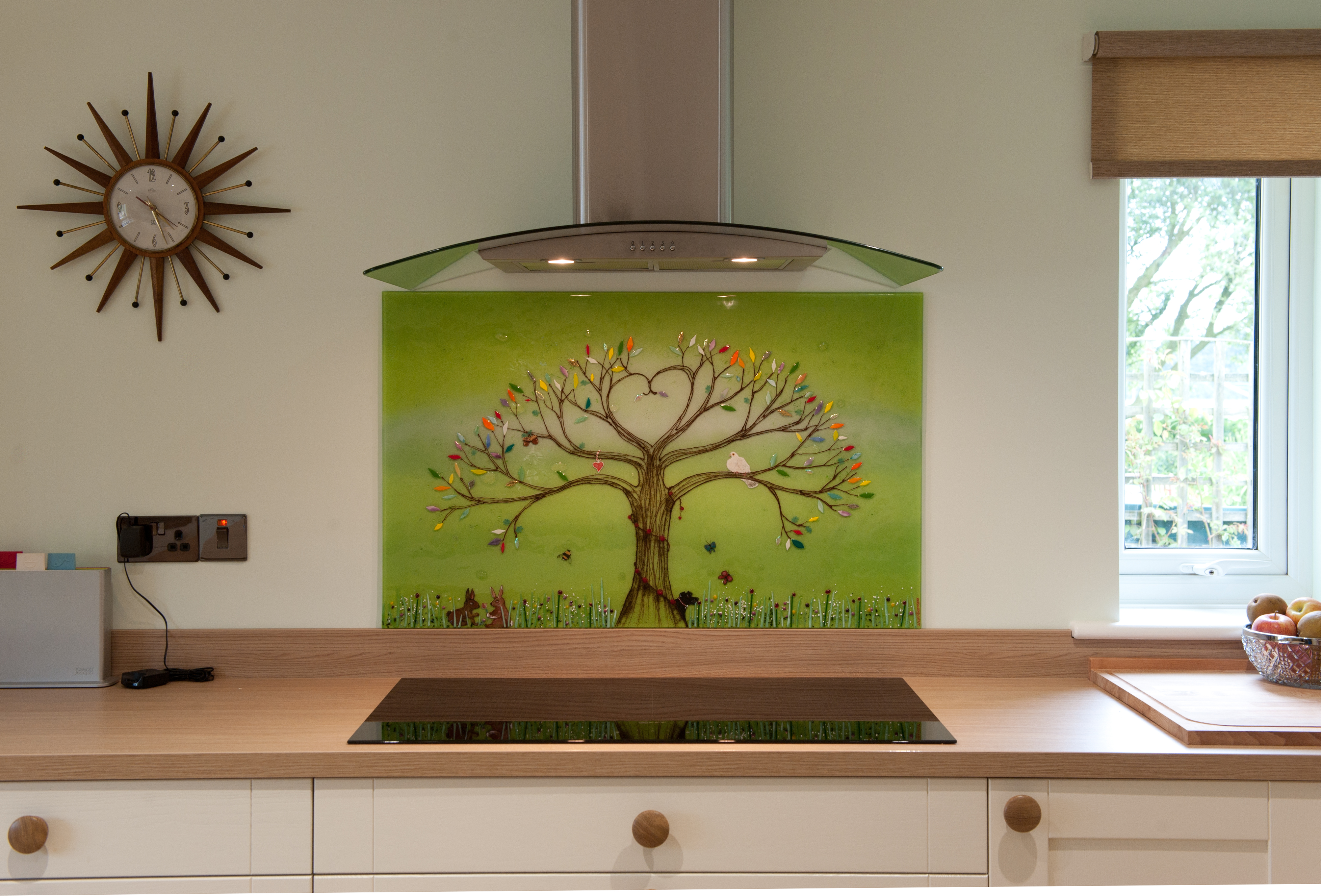 This beautiful fused glass art green tree of life in Norwich is an incredible centrepiece for the entire kitchen!