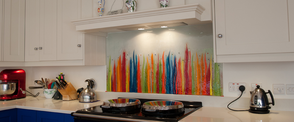 Fused Glass Art | Glass Splashbacks | Bespoke | Coloured | The House ...