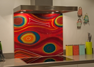 Bespoke splashback portfolio glass art designs glass for Home extension design welwyn garden city
