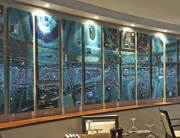Fused Glass Art Commercial Wall Installation