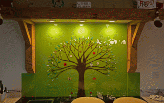 Green Tree of Life Glass Splashbacks