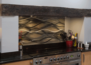 Glass Splashbacks Surrey Earthen Wave Panel