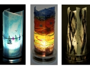 fused glass lighting