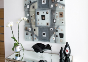 Black and White Glass Wall Art
