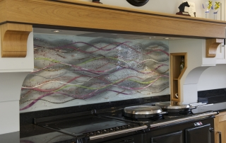 Fused Glass Splashbacks Subtle Wave Splashback