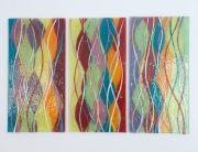 Fused Glass Wall Art Bolton Multicolor Wave