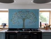 Glass Splashbacks Tree of Life Blue Centrepiece
