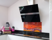 Fused Glass Art Dukinfield Orange Splashback