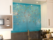 Glass Splashbacks Kent Eric Mitchell Blue Tree