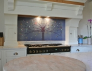 Fused Glass Art Wide Tree of Life Splashback