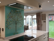 Bespoke Glass Splashbacks Blue Tree of Life