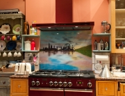Fused Glass Art London Skyline Splashback