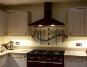 White Dalaman Bespoke Fused Glass Kitchen Splashbacks