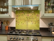 Glass Splashbacks Tree of Life Green Panel
