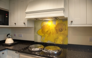 Coloured Glass Splashbacks Cemlyn Bay Anglesey