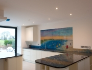 Bespoke Fused Glass Kitchen Splashback Lyme Regis