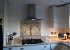 Coloured Glass Splashbacks Tree of Life