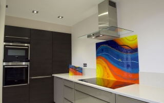 Bespoke Fused Glass Splashbacks Salcoats