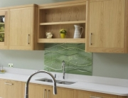 Glass Splashbacks Green Wave Sevenoaks
