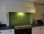 Fused Glass Art Green Tree of Life Splashback