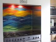 Fused Glass Art Bradford Wave