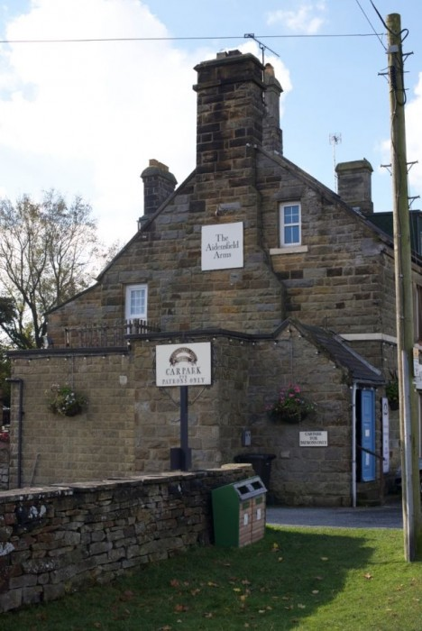 The pub at Goathland. We saw it on a fused glass art related trip!