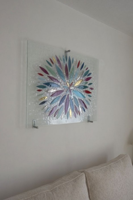 A picture of our fused glass art recently installed in North London. We love how it came out!