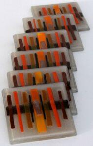 Fused Glass Art Coasters 2