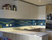 Bespoke Glass Splashbacks Aquatic Wave