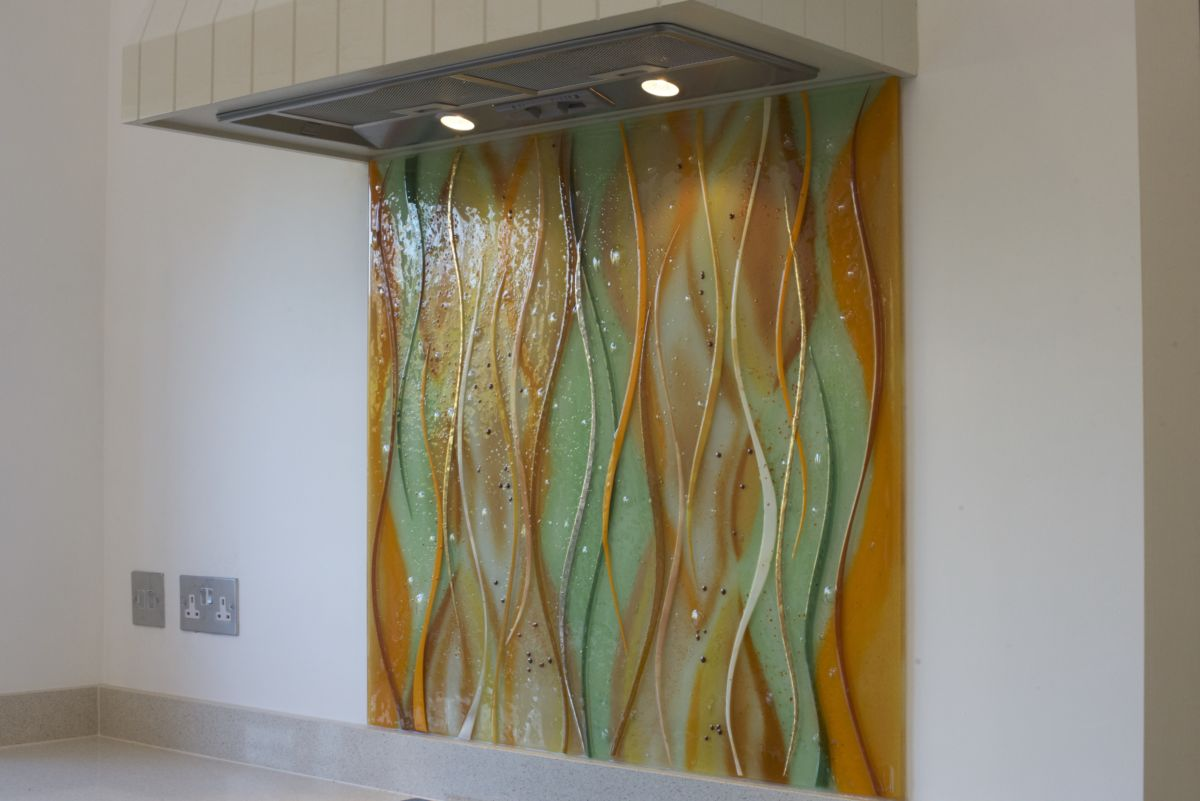 This isn't just a coloured glass splashback, it's fused glass! And with that, comes a huge amount of possibilities!