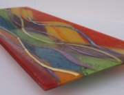 Fused Glass Art Coloured Bowl