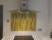 Fused Glass Art Kitchen Splashback
