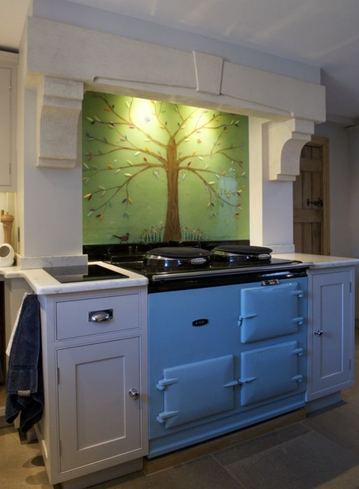 A beautiful tree of life splashback showcasing the best fused glass Cheshire has to offer.