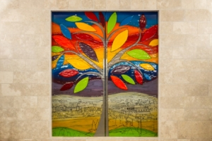 Fused Glass Art at Radlett Synagogue