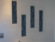 Fused Glass Wall Art UK Bathroom