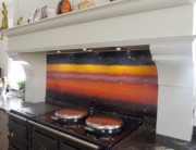 Bespoke Fused Glass Art Splashback
