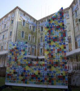 Lido di Venezia Fused Glass Art Panel