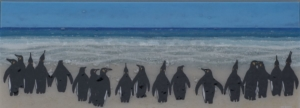 Fused Glass Art Penguins 2