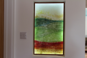 Fused Glass Art Northumberland Close Up