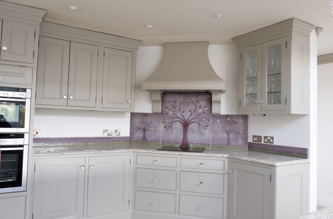 One of our signature tree of life glass splashbacks Cheshire-wide. We're proud of this one!