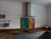 Fused Glass Art Splashback Motherwell