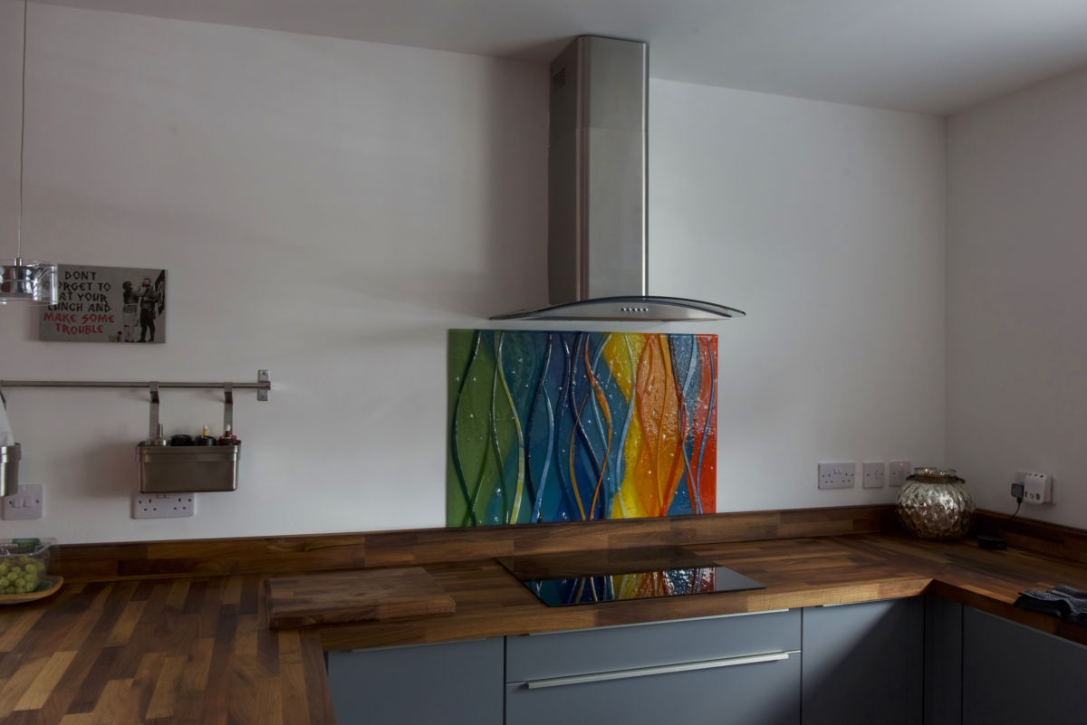 Just one look at this fused glass art splashback is all you need to know just how beautiful it is!